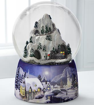 Christmas Train Winter Snow Globe by San Francisco Music Box Company