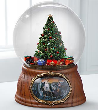 O Christmas Tree Water Globe Music Box
