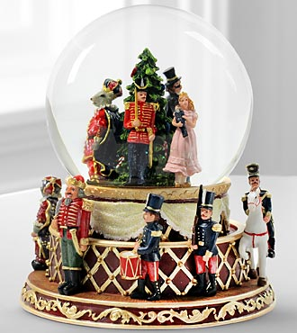 Holiday Nutcracker Rotating Water Globe by San Francisco Music Box Company