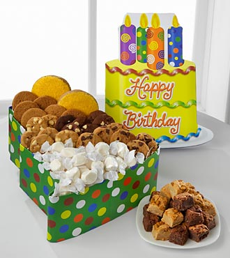 Mrs. Fields&reg; Happy Birthday Cake Box