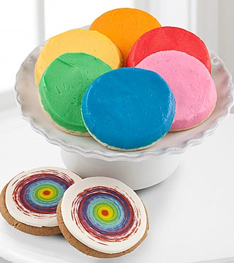 FTD Pick Me Up Rainbow Frosted Cookies By Mrs. Fields