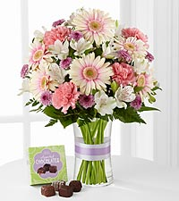 The Sweeter Than Ever™ Bouquet with Chocolates by FTD ® - VASE INCLUDED