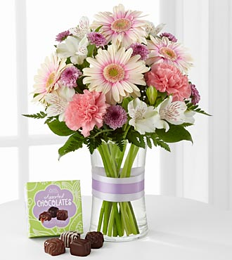The Sweeter Than Ever&trade; Bouquet with Chocolates by FTD&reg; - VASE INCLUDED