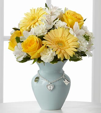 The FTD&reg; Mother's Charm&trade; Bouquet - Boy - VASE INCLUDED