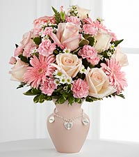 The Mother's Charm&trade; Bouquet by FTD&reg; - Girl - VASE INCLUDED