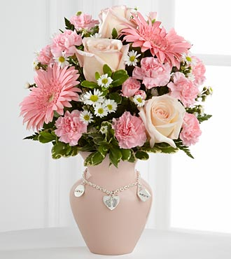 The Mother's Charm™ Bouquet by FTD® - Girl - VASE INCLUDED