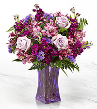 The FTD ® Purple Presence™ Bouquet-VASE INCLUDED