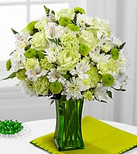 The FTD ® Lime-Licious Bouquet - VASE INCLUDED