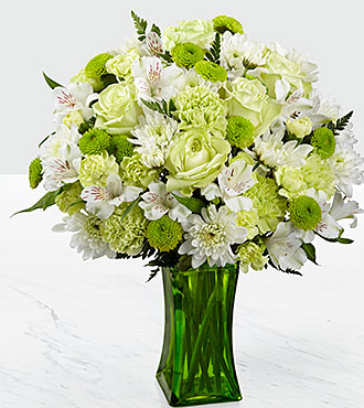 The FTD Lime-Licious Bouquet - VASE INCLUDED