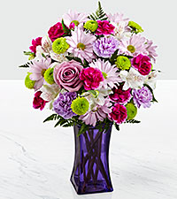 The FTD ® Purple Pop Bouquet - VASE INCLUDED