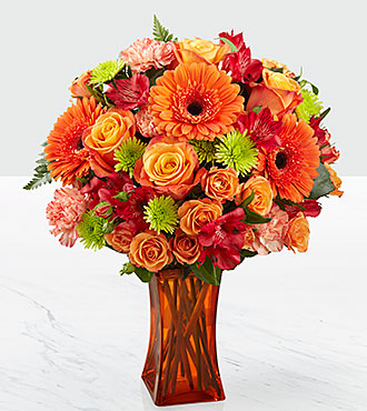 The FTD Orange Escape Bouquet - VASE INCLUDED