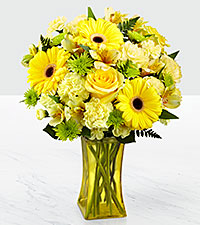 The FTD ® Lemon Groove Bouquet - VASE INCLUDED