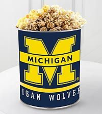 University of Michigan&trade; Wolverines&trade; Popcorn Tin - 1 Gallon