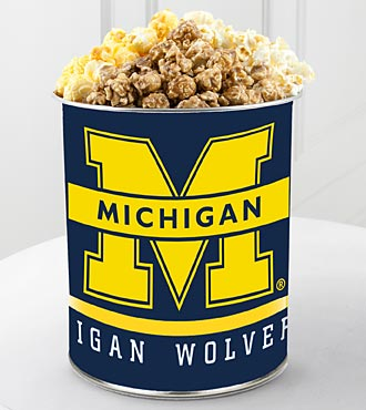 University of Michigan™ Wolverines™ Popcorn Tin - 1 Gallon