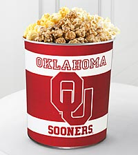 University of Oklahoma ® Sooners ® Popcorn Tin - 1 Gallon