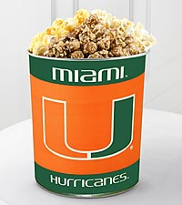 University of Miami Hurricanes&reg; Popcorn Tin - 1 Gallon