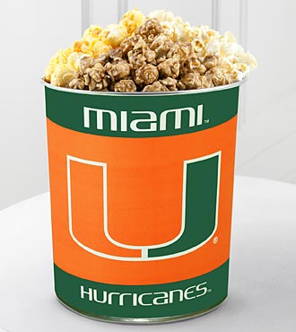 University of Miami Hurricanes® Popcorn Tin - 1 Gallon