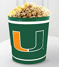 University of Miami Hurricanes&reg; Popcorn Tin - 3 Gallon