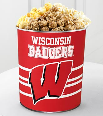 University of Wisconsin Badgers™ Popcorn Tin - 1 Gallon