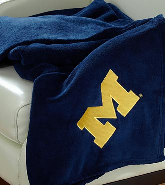 University of Michigan™ Wolverines™ Fleece Throw