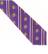 Louisiana State University ® Tigers™ Woven Silk Tie