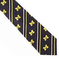University of Michigan&trade; Wolverines&trade; Woven Silk Tie