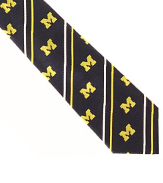 University of Michigan™ Wolverines™ Woven Silk Tie