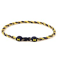 University of Michigan™ Wolverines™ Titanium Sport Necklace