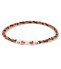University of Miami Hurricanes&reg; Titanium Sport Necklace
