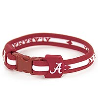 University of Alabama ® Crimson Tide ® Titanium Sport Bracelet