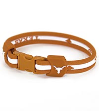University of Texas&reg; Longhorns&reg; Titanium Sport Bracelet