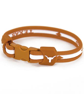 University of Texas® Longhorns® Titanium Sport Bracelet