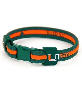 University of Miami Hurricanes® Titanium Sport Bracelet