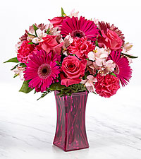 The FTD ® Raspberry Rush™ Bouquet- VASE INCLUDED