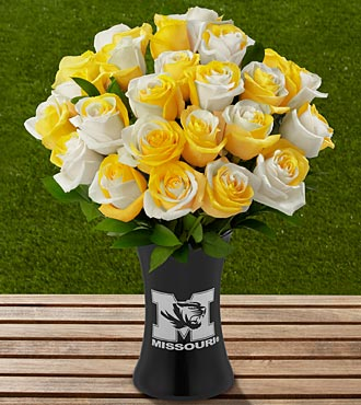 The FTD&reg; University of Missouri&reg; Tigers&trade; Rose Bouquet - 24 Stems - VASE INCLUDED