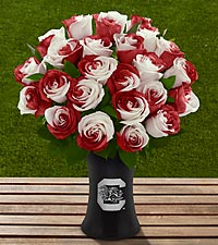 The FTD&reg; University of South Carolina&reg; Gamecocks&reg; Rose Bouquet - 24Stems- VASE INCLUDED
