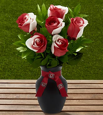 The FTD® University of South Carolina® Gamecocks® Rose Bouquet - 6 Stems - VASE INCLUDED