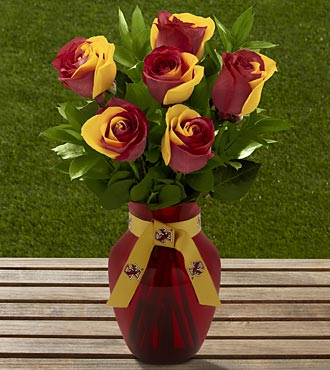 The FTD® Boston College Eagles® Rose Bouquet - 6 Stems - VASE INCLUDED