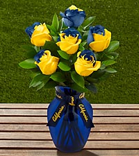 The FTD ® University of California Golden Bears™ Rose Bouquet - 6 Stems - VASE INCLUDED
