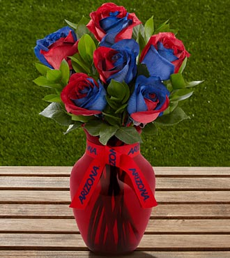 The FTD&reg; University of Arizona&reg; Wildcats&trade; Rose Bouquet - 6 Stems - VASE INCLUDED