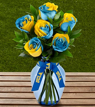The FTD® UCLA Bruins® Rose Bouquet - 6 Stems - VASE INCLUDED