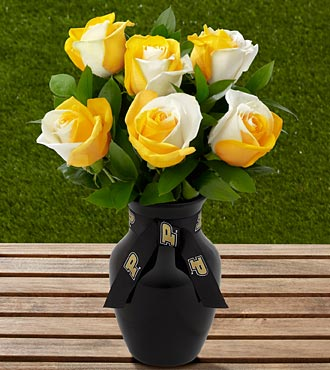 The FTD® Purdue University® Boilermakers® Rose Bouquet - 6 Stems - VASE INCLUDED