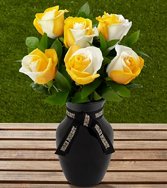 The FTD® Wake Forest University™ Demon Deacons™ Rose Bouquet - 6 Stems-VASE INCLUDED