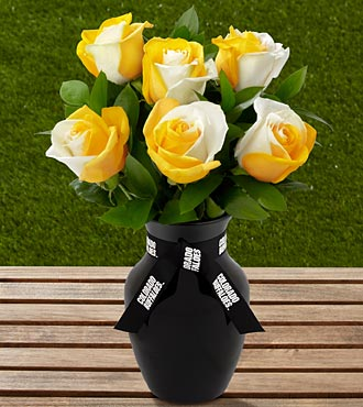 The FTD® University of Colorado Buffaloes™ Rose Bouquet - 6 Stems-VASE INCLUDED