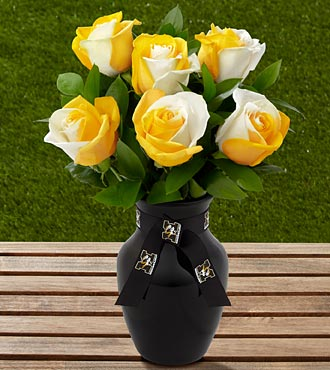 The FTD® University of Missouri® Tigers™ Rose Bouquet - 6 Stems - VASE INCLUDED