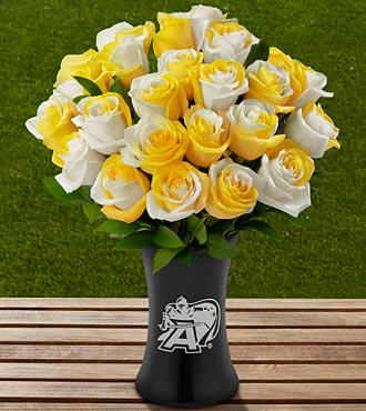 The FTD® US Military Academy® Black Knights® Rose Bouquet - 24 Stems - VASE INCLUDED