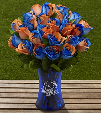 The FTD® Boise State University™ Broncos™ Rose Bouquet - 24 Stems - VASE INCLUDED