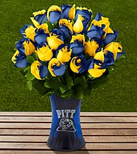 The FTD&reg; University of Pittsburgh&reg; Panthers&trade; Rose Bouquet - 24 stems - VASE INCLUDED