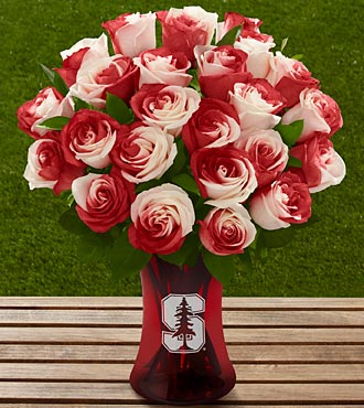 The FTD® Stanford® University Cardinal™ Rose Bouquet - 24 Stems - VASE INCLUDED