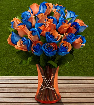 The FTD® University of Virginia® Cavaliers® Rose Bouquet - 12 Stems - VASE INCLUDED